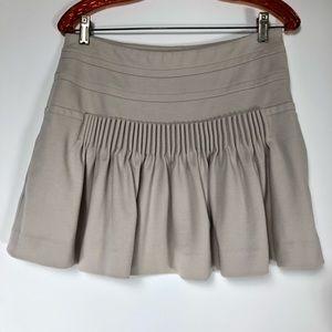 DVF wool blend heavy pleated khaki skirt. Size 6